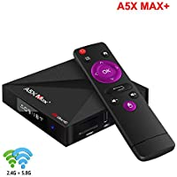 A5X Max+ 4GB 32GB Smart tv Box android8.1 RK3328 2.4G/5G WiFi Bluetooth4.1 UHD 4K HDR10 Android tv Box A5X Max+ Set top Box