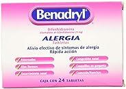Benadryl Tabletas, 25 mg, 24 Piezas