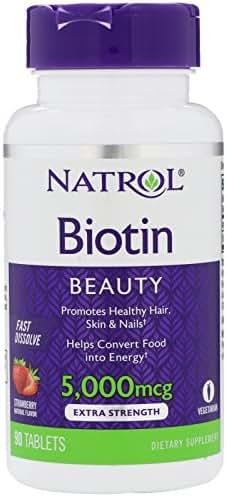 Natrol Biotin BEAUTY 5,000 mcg, 250 Fast Dissolve Tablets