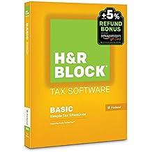 H&R Block 2015 Basic Tax Software +  Refund Bonus Offer  - PC/Mac Disc [Old Version]