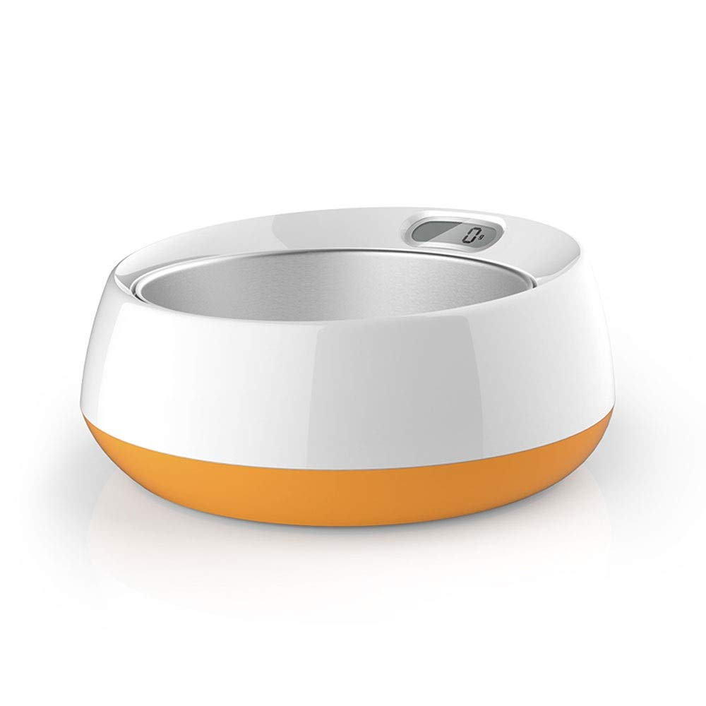 A Pet Smart Weighing Cat Bowl Dog Bowl Dog Bowl Cat Bowl Dog Bowl Bowl Cat Bowl Bowl Can Be Weighed, Recommended Food Intake, Healthy Feeding ( color   A )