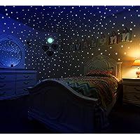 Glow in The Dark Stars & Moon Stickers for Kids Bedroom...