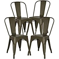 POLY & BARK EM-112-BRZ-X4 Trattoria Side Chair in Bronze,...