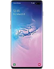 $720 Get Samsung Galaxy S10+ Plus Verizon + GSM Unlocked 128GB Blue (Renewed)