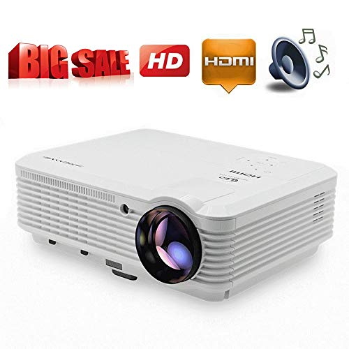 Home Theater Projector 3900 Lumen 1080P Full HD Support, LED Video Projector 200' Image Display Movie Projectors with USB AV HDMI VGA Audio Input for iPhone Fire TV Stick PC Laptop Games Outdoor Use