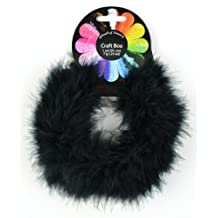 Midwest Design Touch of Nature 1-Piece Feather Marabou Craft Boa for Arts and Crafts, 1-Yard, Black