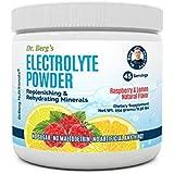 Dr. Berg's Electrolyte Powder, High Energy, Replenish & Rejuvenate Your Cells, 45 Servings, NO Maltodextrin or Sugar, Amazing Raspberry Lemon Flavor, Completely Dissolves