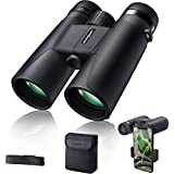 Binoculars for Adult Compact Durable,roof Prism with FMC BK4 Lens 10x42 HD,Best for Spotting,Hunting,Hiking and Birdwatching RIVMOUNT RMB201