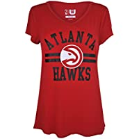 fan products of UNK NBA Women's T-Shirt V-Neck Relaxed Fit Short Sleeve Tee Shirt, Team Logo Color