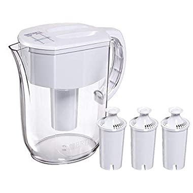 Brita Pitcher Large 10 Cup Everyday Bundle with 3 Pack of Brita Filters, 6 Months of Filtered Water