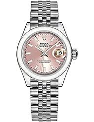 Women's Rolex Lady-Datejust 28 Pink Dial Luxury Watch (REF. 279160)