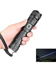 WXGZS Más Potente Linterna, 5 Modos USB Zoom Llevó La Antorcha 18650 O 26650 De La Batería Mejor Camping, Al Aire Libre