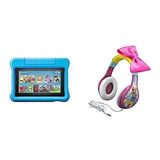 Fire 7 Kids Edition Tablet (Blue) + Toy Story Headphones (Bo Peep)