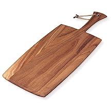 Ironwood Gourmet 28118 Large Rectangular Paddle Board, Acacia Wood