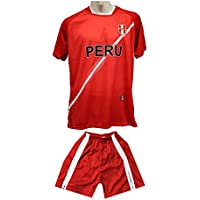 DhoomBros Kids Peru Soccer Football Jersey Shorts Uniform...