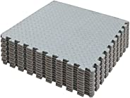 SK DEPOT Interlocking Improved Size 24in*24in*0.5in Puzzle Exercise Mat 12PCS EVA Foam Leaf Pattern Interlocki