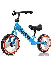 دراجة التوازن للأطفال مع إطارات فلاش من كيوبي، أزرق