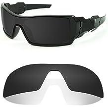 Littlebird4 1.5mm Black Polarized Replacement Lenses for Oakley Oil Rig Sunglasses