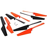 Traxxas LaTrax Alias Quadcopter 8 ORANGE & BLACK ROTOR BLADE Screw Propeller