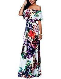 Women Maxi Dress Bodycon Dress Plus Size Vestidos Sexy Floral Sundress
