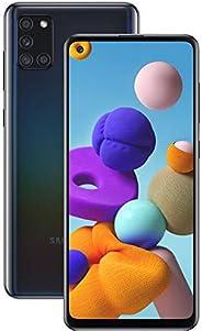 "Smartphone Samsung A21s Preto 64GB Android 10 Tela 6.5"" Camera"