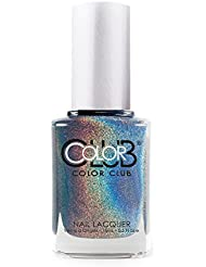 Color Club Halographic Hues Nail Polish, Shimmering Sky Colors, Over The Moon, .05 Ounce