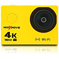 MaxXmove MXM-AC-RIZEH4-Y 30fps 4K Action Camera, Yellow