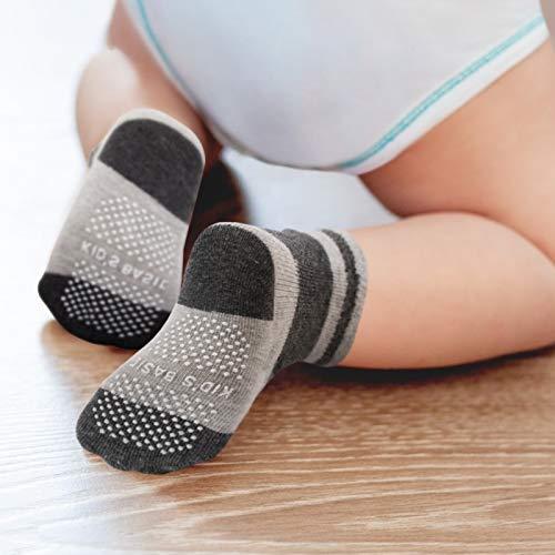 Baby Socks,CIEHER 12 Pairs Baby Socks with Grips,Toddler Socks with Grips, Toddler Socks Boys,Baby Socks