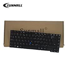 SUNMALL Keyboard Replacement with POINTER for HP EliteBook 8440p 8440w series Black US Laptop Compatible with Part Number 594052-001 598042-001(6 months warranty)