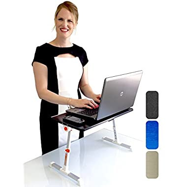 Stand Steady Traveler Folding Stand Up Desk, Black