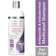 Veterinary Formula Clinical Care Antiparasitic and Antiseborrheic Medicated Shampoo for Dogs – Veterinary Recommended, Fast-Acting Shampoo For Mange, Parasitic Infections, Seborrhea, and Fungal and Bacterial Skin Infections in Dogs (16 oz bottle)