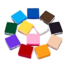 Polymer Clay, 12 Colors DIY Modeling Clay, 0.7 Oz/Piece Soft Oven Baking Clay with Tutorial for School Project, Best Gift for Children