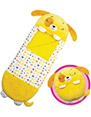 """Happy Nappers™ - Large - Perfect Play 30"""" Pillow extends to 66"""" Sleeping Bag - Yellow Dog"""
