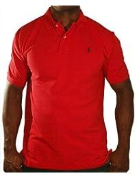 POLO Ralph Lauren Casual Short Sleeved Mens Button Red Polo Shirt Sz Small