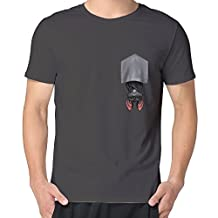 Man's Perfectly Upside-Down Bat Short O-Neck T Shirts