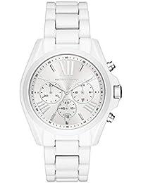 Women's 'Bradshaw' Quartz Stainless Steel Casual Watch, Color:White (Model: MK6585)