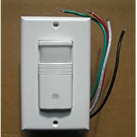 Occupancy AND Vacancy Wall Motion Sensor Detector 120V / 277V Switch White