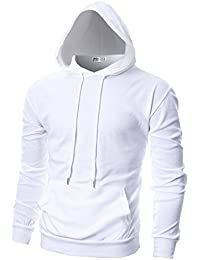 Mens Slim Fit Long Sleeve Lightweight Hoodie With Kanga Pocket