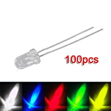 100 5mm Red Green Blue Yellow White LED Light Bulb Lamp