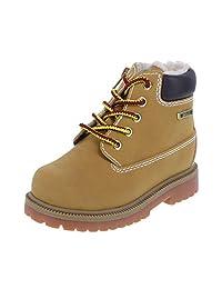 SmartFit Boys' Tan Boys' Toddler Fleece Waterproof Boot