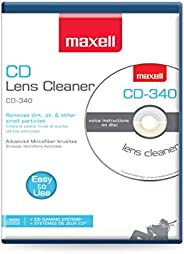 Maxell Safe and Effective Feature CD Player and Game Station Compact Disc Cleaner CD-340 190048 CD/CD-ROM Lase