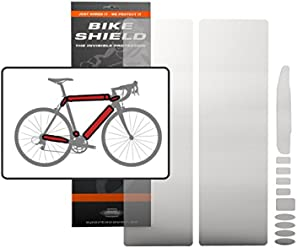 Transparent Gloss Bike Shield Combo Stay and Cable Shields Frame Protection