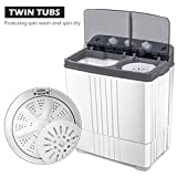 COSTWAY Washing Machine, Twin Tub 20Lbs