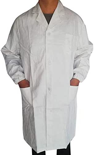 Coat for Women Fit Men Unisex Lab Coat Long Sleeve White Outwear Blouse with Pockets Fashion Casual Shirt