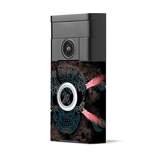 MightySkins Skin for Ring Video Doorbell - Cyber Pirate | Protective, Durable, and Unique Vinyl Decal wrap Cover | Easy to Apply, Remove, and Change Styles | Made in The USA
