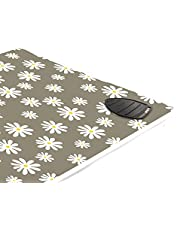 Encasa Homes strykmatta/dyna (120 x 70 cm) med 3 mm stoppning och silikonjärn vila för ångtryckning på bordsskiva eller säng - värmebeständig, bärbar, quiltning & resefilt - tusensköna grå