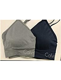 Ladies Seamless Bralette, Removable Pads, Signature Logo Band, 2 Pack · Calvin Klein