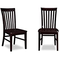 Atlantic Furniture Mission Dining Chairs in Espresso (Set of 2)