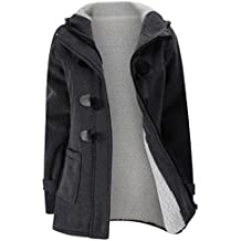 BSGSH Womens Classic Hooded Pea Coat Winter Warm Outdoor Solid Fashion Jacket Outwear