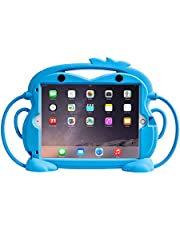 """Kids Case for Ipad 8/ ipad 7th Gen 10.2""""/iPad Air 3rd Gen 10.5"""" 2019 / iPad Pro 10.5 2017,Shockproof Silicone Handle Stand Ipad Case with Built-in Apple Pencil Holder -Blue"""